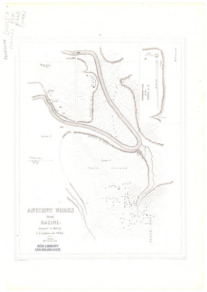 Racine Wisconsin Map.Racine Wisconsin 1855 American Geographical Society Library