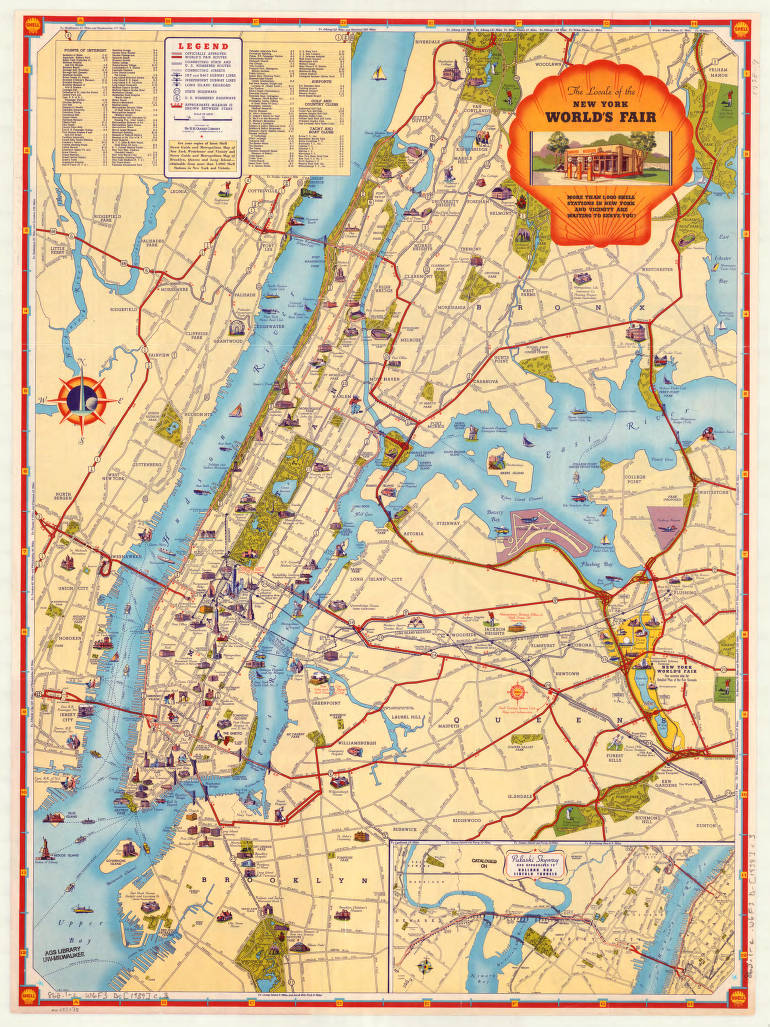 Geographical Map Of New York.New York City 1939 American Geographical Society Library Digital