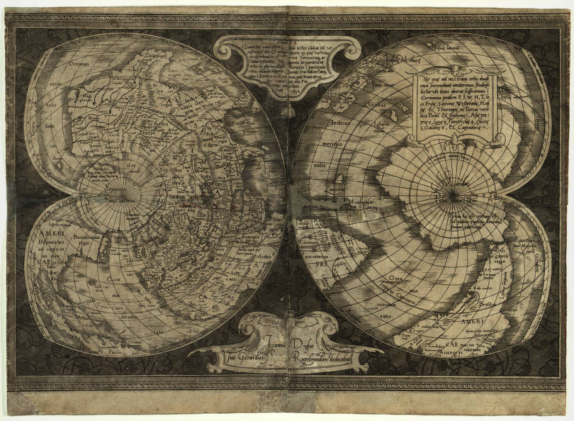 World map 1538 american geographical society library digital map world map 1538 gumiabroncs Gallery