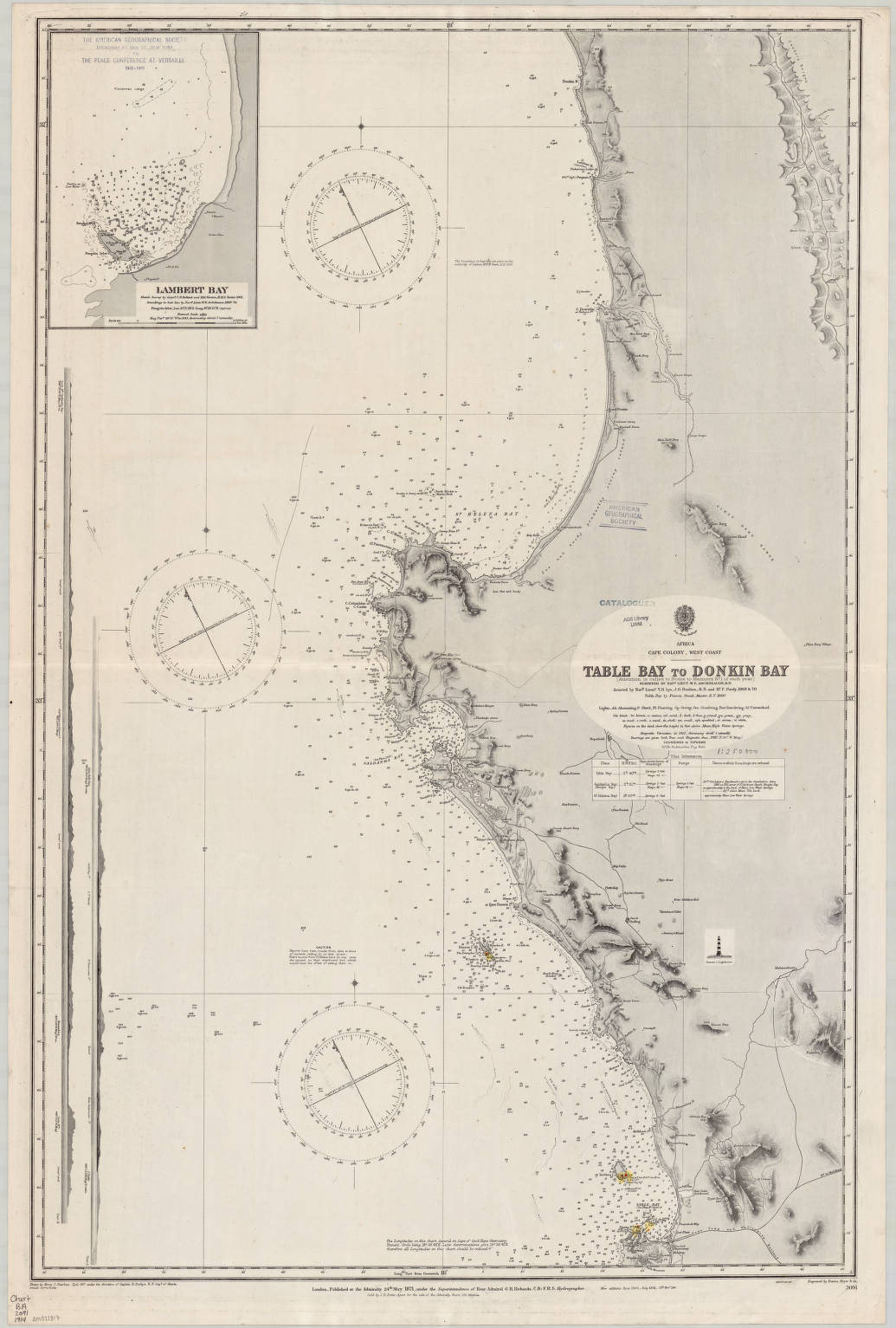 Cape of Good Hope, South Africa 1914 - American Geographical ...