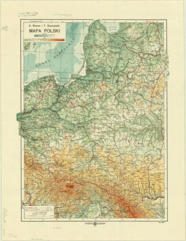 Poland 1923 American Geographical Society Library Digital Map