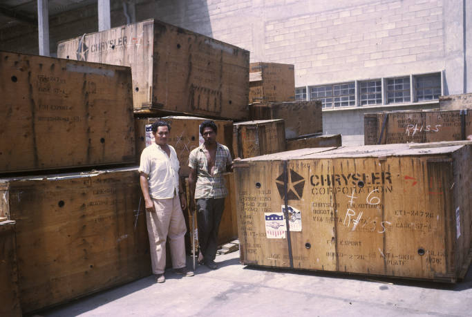 Colombia, dock workers with American imports in Barranquilla - AGSL