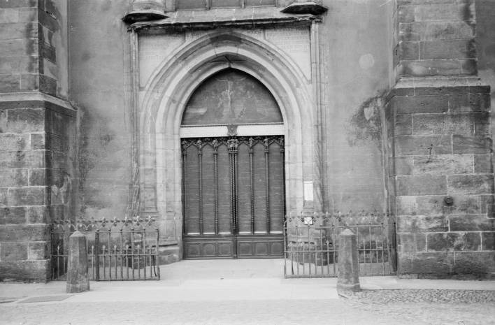 Germany Castle Church door in Wittenberg where Luther hung his 95 Theses & Germany Castle Church door in Wittenberg where Luther hung his 95 ...
