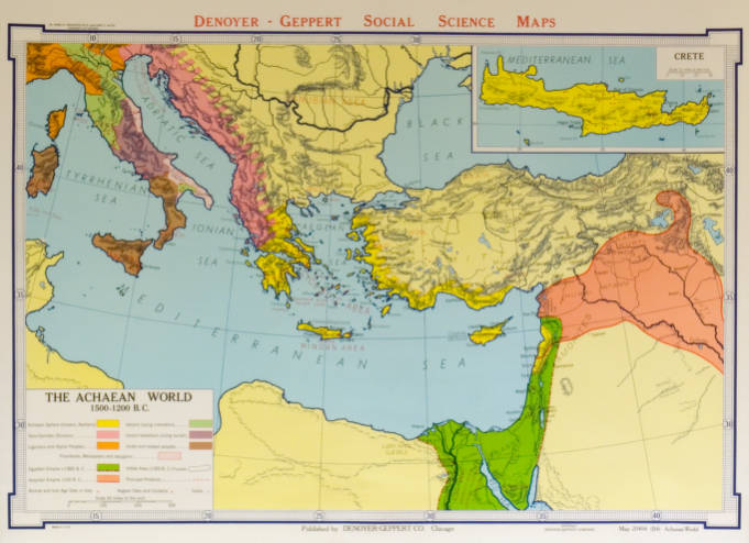 Achaean World 1500-1200 B.C., The - AGSL Wall Map Collection - UWM ...