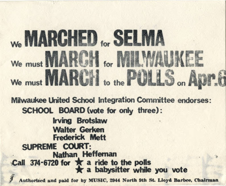 24 School Board and Supreme Court endorsements - March On