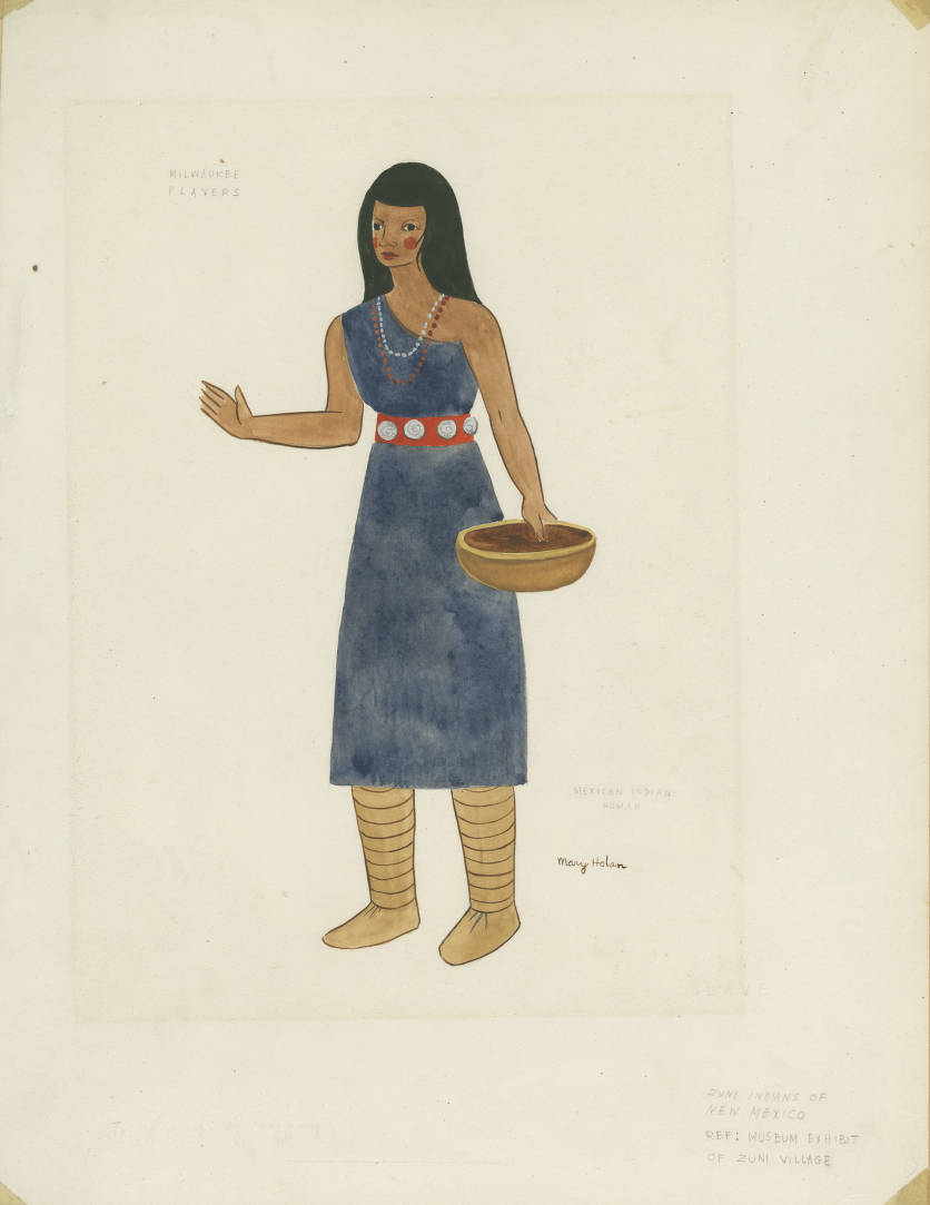 Miscellaneous: Mexican Indian Woman - Works Progress Administration