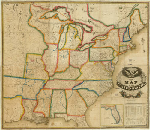 United States American Geographical Society Library Digital - 1830 us map