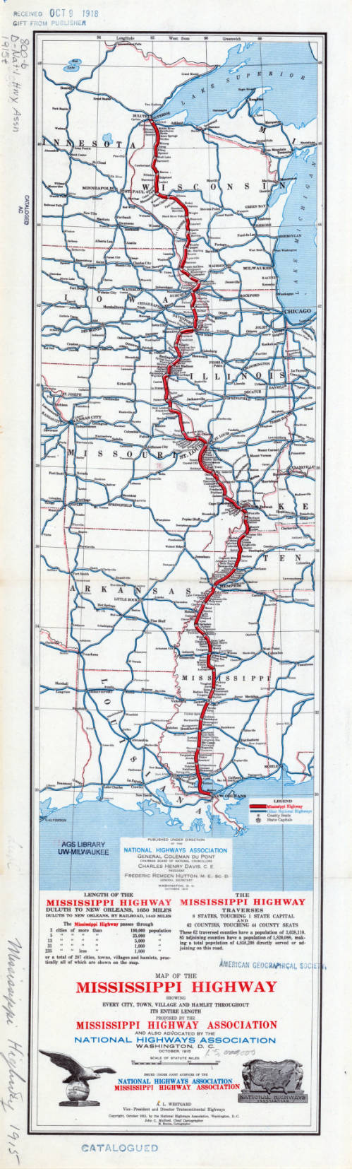 Mississippi Highway 1915 - American Geographical Society ...